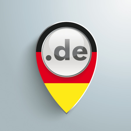 Marker with button on the grey background. Eps 10 vector file. Vector