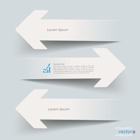 adversaire: Papier blanc fl�ches sur le fond gris. Eps 10 fichier vectoriel.