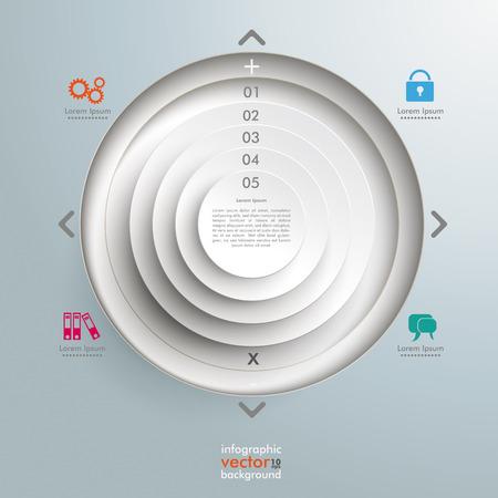 widget: Infographic design on the grey