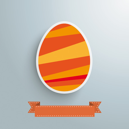 Colored eggs design on the grey Vector