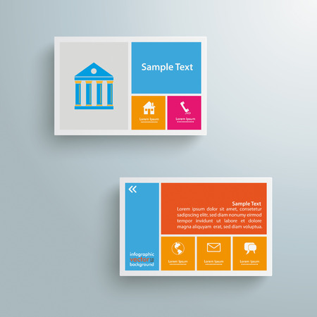 Template rectangles design on the grey Vector