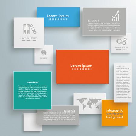 worldmap: Template rectangles design on the grey