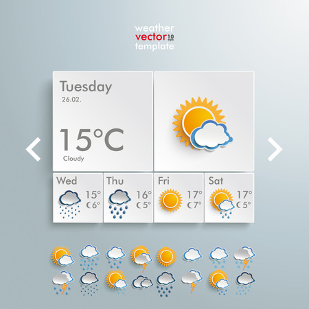 widget: Template weather design on the grey