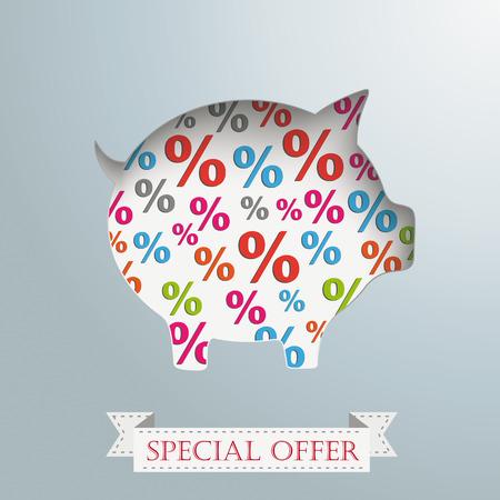fonds: Vintage background design with piggy bank. Eps 10 vector file. Illustration