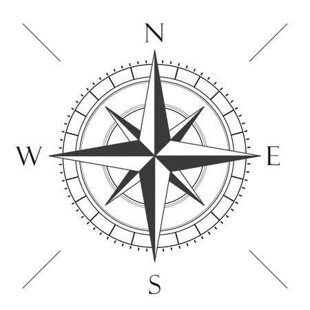 compass: Compas on the white background.  Illustration
