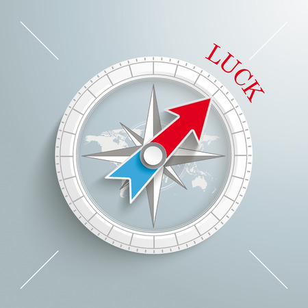luckiness: White compass on the grey background.