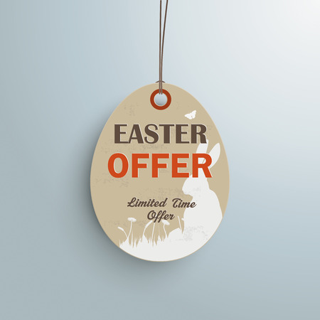 hale: Price sticker with text Easter Offer.