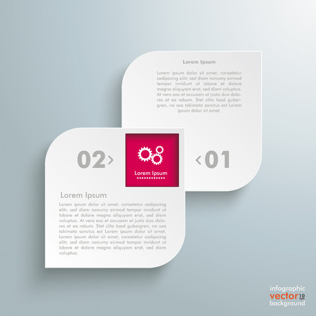 Template rectangles design on the grey background. Vector