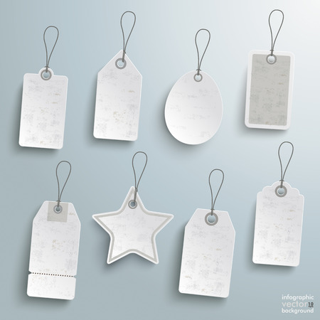 8 sale stickers on the grey background Vector