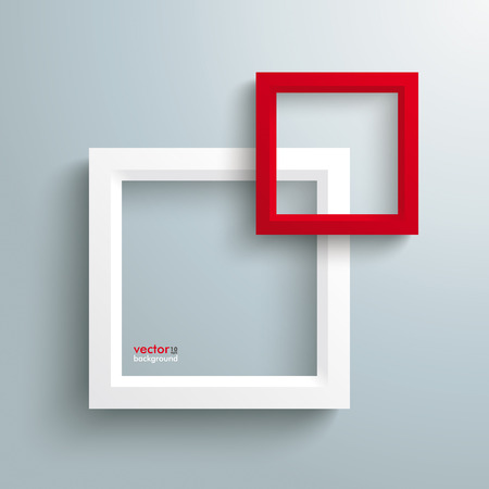quadrat: Template rectangle design on the grey background.