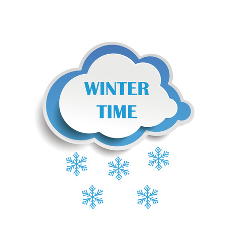 wintertime: Cloud icon with text Wintertime.