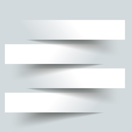 4 cutting banners on the grey background.