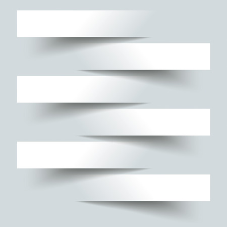 6 cutting banners on the grey background.