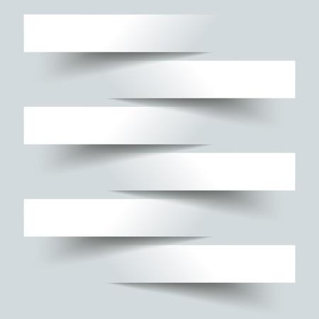6 Schneiden Banner auf dem grauen Hintergrund.