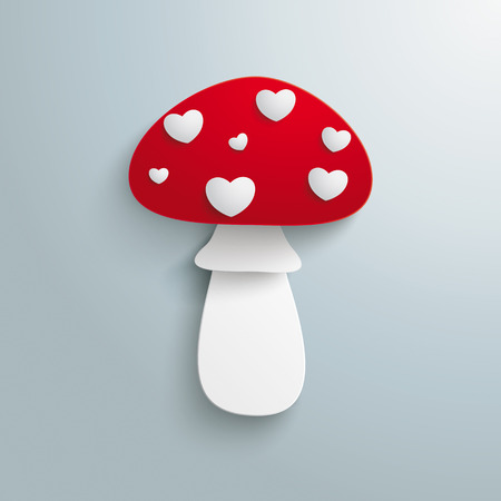 a fly agaric: Fly agaric on the grey background.