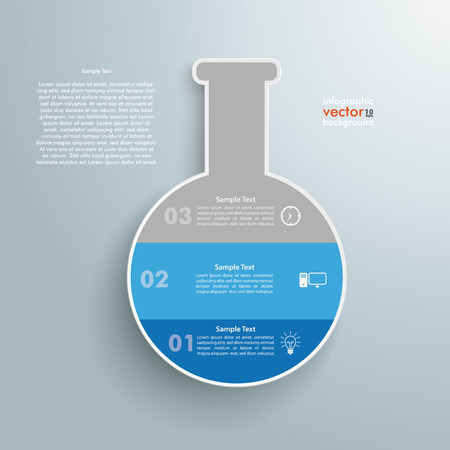 Tube infographic on the grey background.  Vector