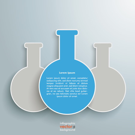 Tube infographic on the grey background. Eps 10 vector file. Vector