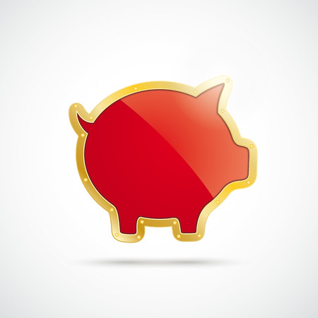 fonds: Infographic with golden piggy bank on the white background.