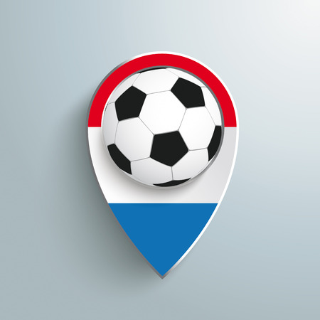 goal flag: Marker with football on the grey background.