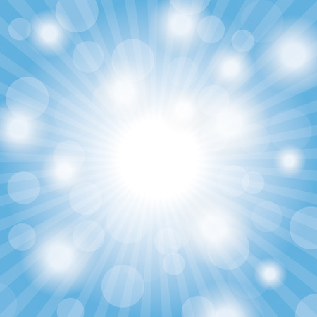 nova: Blue sky with lights.  Illustration
