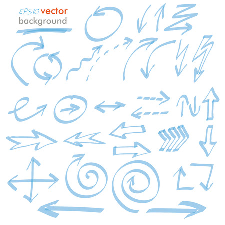 Infographic design with blue arrows on the white background. Eps 10 vector file.