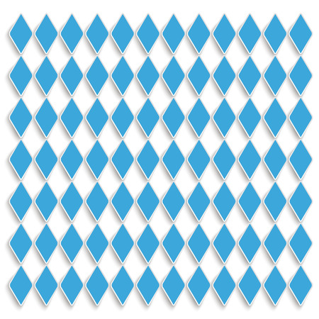lozenge: Blue rhombus pieces on the white background.