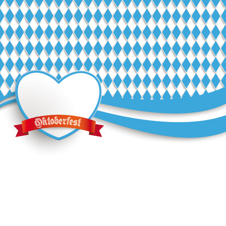 lozenge: Oktoberfest design on the white background. German text  Oktoberfest, translate  Oktoberfest.