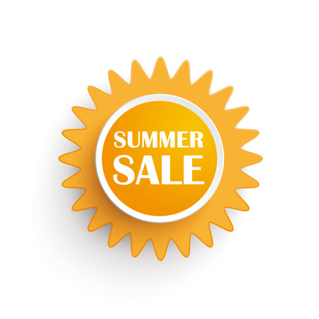 Sun icon with text Summer Sale. Illustration