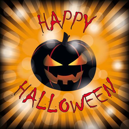 flier: Halloween flyer background design with pumpkin.  Illustration