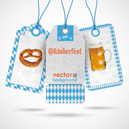 Oktoberfest price sticker on the white background. German text O�zapft is and Oktoberfest, translate on tap and Oktoberfest. Vector