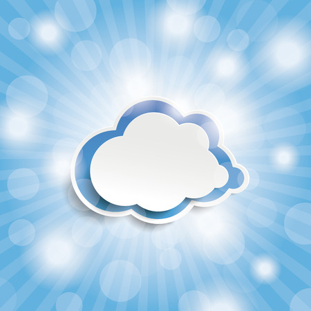 Blue sky with lights and cloud Vector