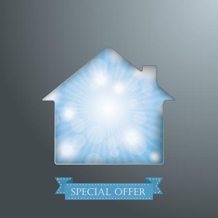 fonds: House hole with blue sky Illustration