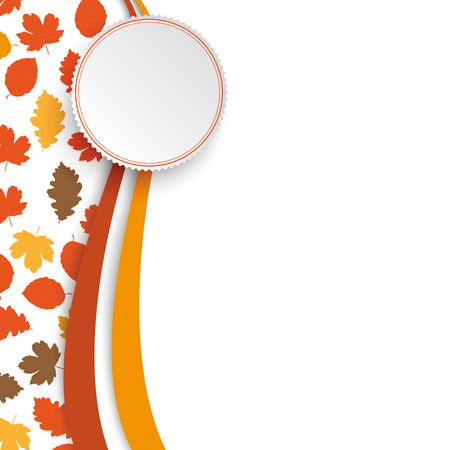 acer: Autumn flyer design on the white background.  Eps 10 vector file. Illustration