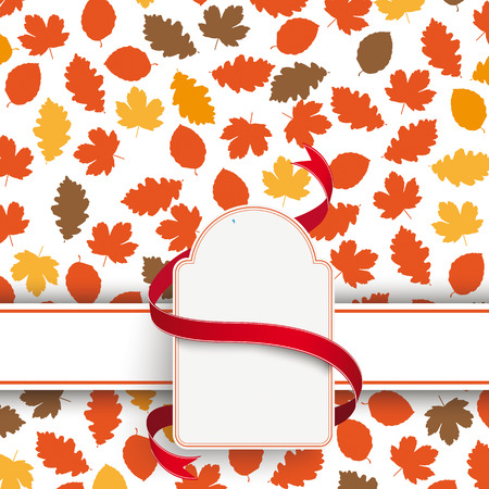 Foliage in autumn colors on white background. Eps 10 vector file. Vector