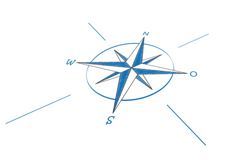 eps 10: Compass on the white background. Eps 10 vector file. Illustration