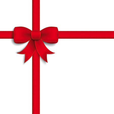 Red Ribbon auf dem weißen Hintergrund. Eps 10 Vektor-Datei. Illustration