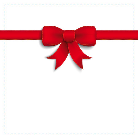 Red ribbon on the white background. Eps 10 vector file. Illustration