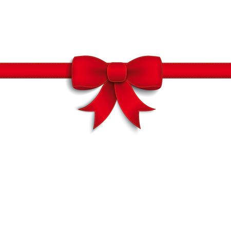 Red Ribbon auf dem weißen Hintergrund. Eps 10 Vektor-Datei. Standard-Bild - 31976453