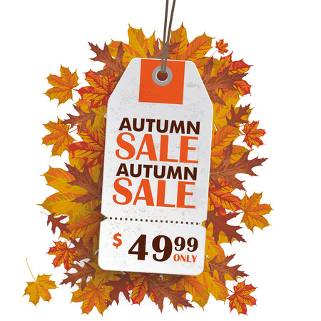 Sale sticker on the grey background. German text Herbst Angebot, translate Autumn Sale.
