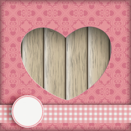 slat: Heart hole with and ornaments. Eps 10 vector file. Illustration