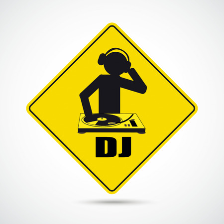 deejay: Party flyer with DJ-Sign.Eps 10 vector file. Illustration