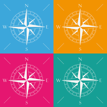 eps 10: 4 colored compass backgrounds. Eps 10 vector file.