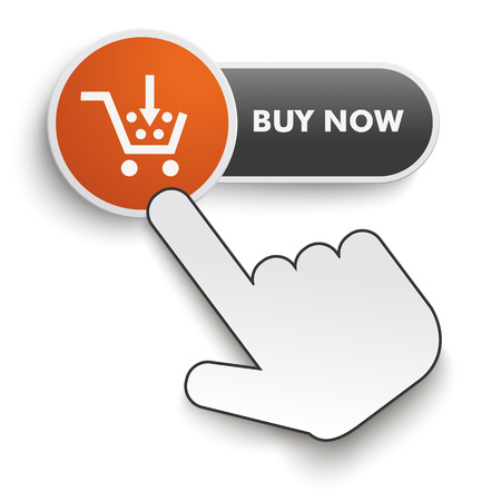 selling points: Buy Now button on the white background. Eps 10 vector file.