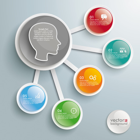 Infographic design on the gray background. Eps 10 vector file.
