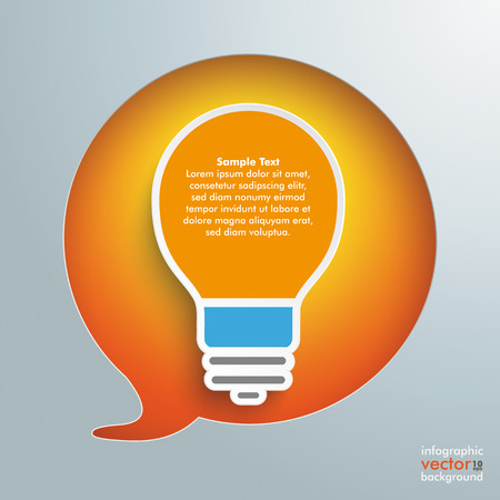 gray bulb: Speech bubble hole with white bulb on the gray background. Eps 10 vector file.