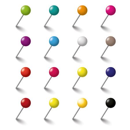 Farbige Stifte auf dem weißen Hintergrund. Eps 10 Vektor-Datei.