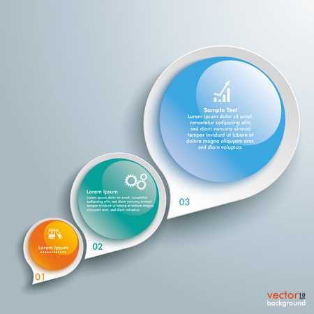 Infographic with drop shapes on the gray background. Eps 10 vector file. Illustration