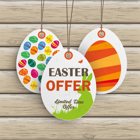 Price sticker with text Easter Offer. Eps 10 vector file.