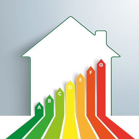 real estate growth: Infographic template with broken arrows and house on the gray background. Eps 10 vector file. Illustration