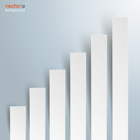 comb out: Infographic template with bars on the gray background. Eps 10 vector file.